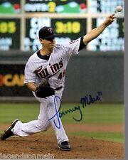 Tommy Milone Minnesota Twins  Autographed 8x10  Photo comes with COA tm2T