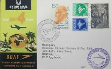 O) 1961 INDIA, FIRST B.O.A.C COMET JETLINER-CALCUTA, RABINDRANATH  TAGORE .POET