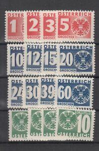Österreich Porto Nr.  159-174, **