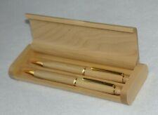 Solid Wood Genuine Maple Ball Pen & Pencil in Maple Pen Box Set