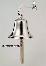 Antique Brass Wall Bell Nickel Vintage Ship School Pub Last Order Dinner Door 6""