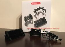 WIKING FRONT LOADER ATTACHMENT SET (3 ATTACHMENTS) **BLACK**