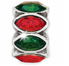 NEW Brighton NAVETTE Green Red Christmas Holiday Spacer Bead Charm J95132