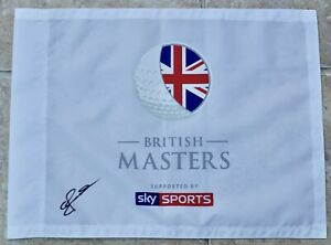 British Masters Sky Sports Golf Flag Signed By The Winner Eddie Pepperell