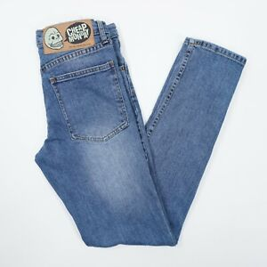 Cheap Monday Tight Dark Clean Wash Womens 31 Mid Rise Skinny Jeans Actual 29X32