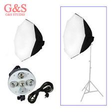 Photography studio kit 60cm/24in Octagon Softbox + 5 E27 socket lamp holder head