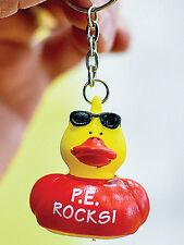 AMERICAN Heart ASSOCIATION Cool PE DUCK Key chain ring P.E. ROCKS Keychain
