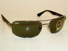 New RAY BAN  Sunglasses  Gunmetal Frame  RB 3445 004  G-15 Glass Lenses