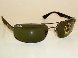New RAY BAN  Sunglasses  Gunmetal Frame  RB 3445 004  Green Lenses 61mm