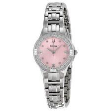Bulova 96R171 Women's Dress Pink Diamond Dial Stainless Steel Watch
