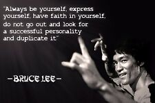"Be You Bruce Lee Martial Arts Quotes Mini Poster 13""x19"""