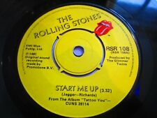 """The Rolling Stones - Start Me Up 7"""" SINGLE ORIG UK 1981 Rolling Stones Records"""