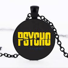 Psycho Text Black/Bronze/Tibet silver Glass Dome chain Pendant Necklace