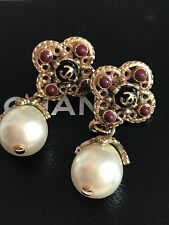 Original CHANEL Vintage Ohrringe Perlen Earrings Pearls TOP! OVP