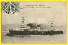 cpa Cachet TOULON en 1907 Marine Militaire CROISEUR CUIRASSÉ - LATOUCHE TRÉVILLE