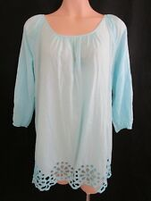 Seafolly Aqua Top Size XS/8 | Cotton | Loose Fit