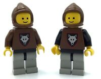 LEGO LOT OF 2 VINTAGE WOLF PACK MINIFIGURES CASTLE KNIGHTS