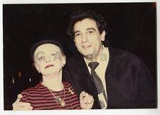 Bette Davis & Placido Domingo - Vintage Candid Photo by Peter Warrack