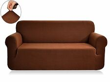 Fabric Slipcover Polyester Spandex Sofa Couch Furniture Protector Coffee BROWN