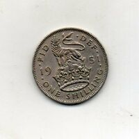 GREAT BRITAIN One Shilling (English arms) 1951