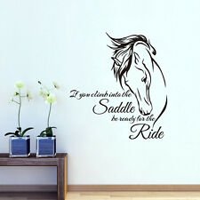 Horse Head Wall Sticker Home Decor Quote If You Climb Into Decal For Bedroom