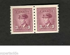 c1940 Canada SCOTT #266 Coil Pair  3 cent  MNH stamp F-VF