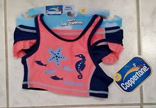 Coppertone Pink Blue Toddler Girl's Small (12M-2T) 2 Piece Tankini Swim Suit
