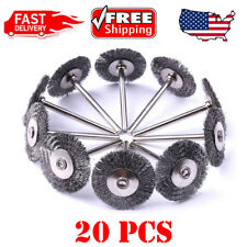 US 20Pcs Steel Wire Wheel Pen Cup Brushes Set for Rotary Tool Kit Accessories