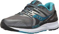 Saucony Women's Redeemer ISO 2 Running Shoe, Grey/Blue, 7 B(M) US