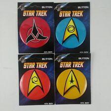 "Ata-Boy Star Trek Starfleet Insignias Set of 4 1.25"" Collectible Buttons"