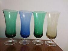 4 VINTAGE COLOR CORDIAL LIQUOR GLASSES 6 OUNCES