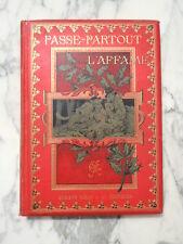 Livre Passe-Partout L'Affamé auteur Guechot editeur Armand Colin vers 1900
