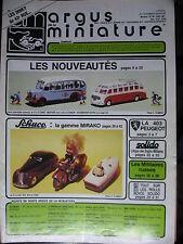 ARGUS DE LA MINIATURE 96 JIUN 1987 SOLIDO MILITAIRE SCHUCO ROLLS PEUGEOT 403