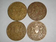 KENYA 10 cents 1977/ 1971 / 1984 / 1991