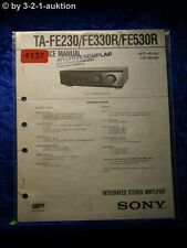 Sony Service Manual TA FE230 /FE330R /FE530R Amplifier (#4137)