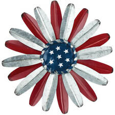 """Large Metal Flower Wall 14"""" Dia Décor Fence Hanger Home or Garden"""