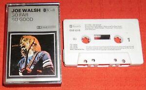 JOE WALSH - UK CASSETTE TAPE - SO FAR SO GOOD (INCLUDES ROCKY MOUNTAIN WAY)