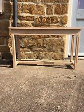 Bespoke H50 x W90 x D35cm solid oak console hall telephone lounge kitchen table