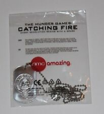 Hunger Games Catching Fire AMC Victor District 12 Promo Dog Tag Necklace Chain