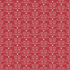 By 1/2 Yard  ~ Cowgirl / Cowboy Boots in Red ~   Riley Blake Fabric Western