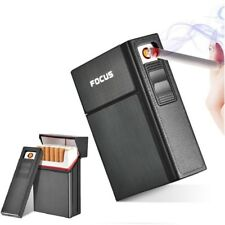Electronic Lighter Flame Less Windproof Cigarette Case Box Removable Usb Holders