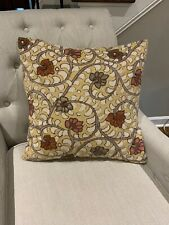 """Pottery Barn Floral Emboidered Pillow Cover 20 X 20"""""""