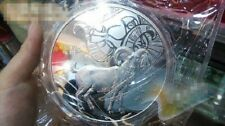 Chinese Lunar Calendar Goat 2015 1 kg kilo Silver Plated Coin Round Medal