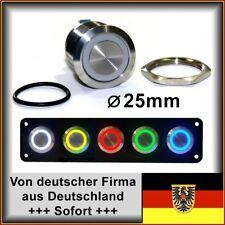 25mm Drucktaster LED gelb Klingelknopf Hupe Edelstahl Wasserdicht IP67