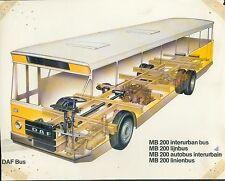 1006DA DAF Bus MB 200 interurban bus Prospekt 1 Bl. 1975 Omnibus brochure