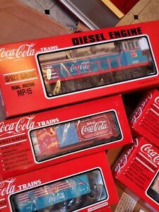 Coca cola train set