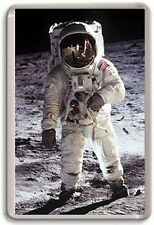 Neil Armstrong moon landing iconic photographs Fridge Magnet