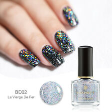 6ml BORN PRETTY Sequins Top Coat Glitter Holographic Effect Nail Polish Manicure