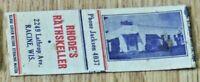 1940s Racine WI Advertising Matchbook Rhode's Rathskeller 2249 Lathrop Ave.