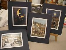 WILL MOSES MATTED 4 IMAGES HALLOWEEN LAUNDRY DAY FLY ME TO THE MOON WITCHES
